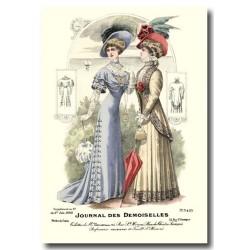 Gravure Journal des Demoiselles 1908 5429