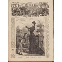 Revue La Mode Illustrée 1878 N°40