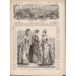 Revue La Mode Illustrée 1884 N°22