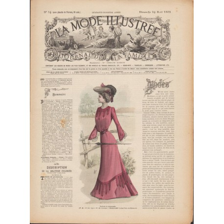 Revue La Mode Illustrée 1902 N°34
