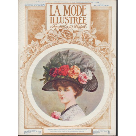 Revue La Mode Illustrée 1910 N°16