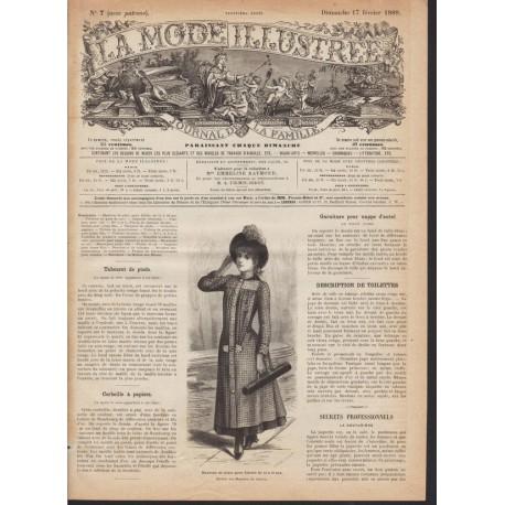 Complete magazine La Mode Illustrée 1889 N°07