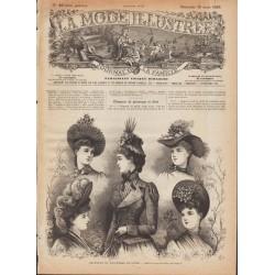 Complete magazine La Mode Illustrée 1889 N°10