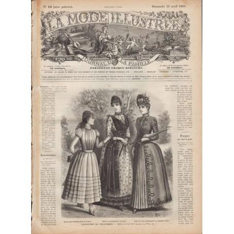 Revue complète de La Mode Illustrée 1889 N°16